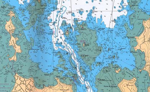 Carte marine de la Baie de Morlaix