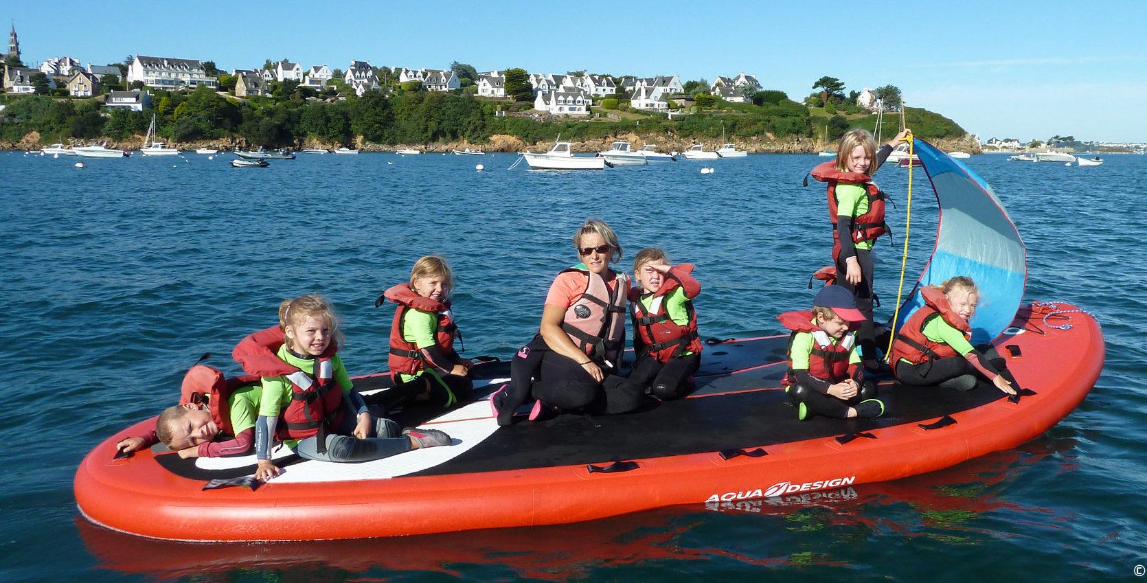 Stage jardin des mers pour les 4 à 6 ans - paddle géant en Baie de Morlaix