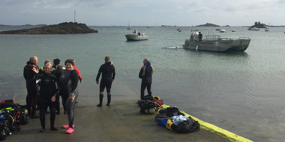 Accueil de groupe de plongée en Baie de Morlaix