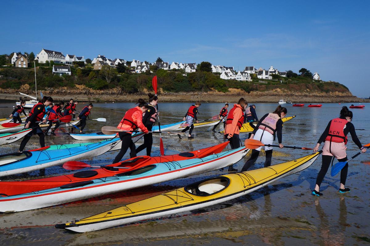 Accueil scolaire - Cycle multi activité voile et kayak - Collège - Plage du Kelenn