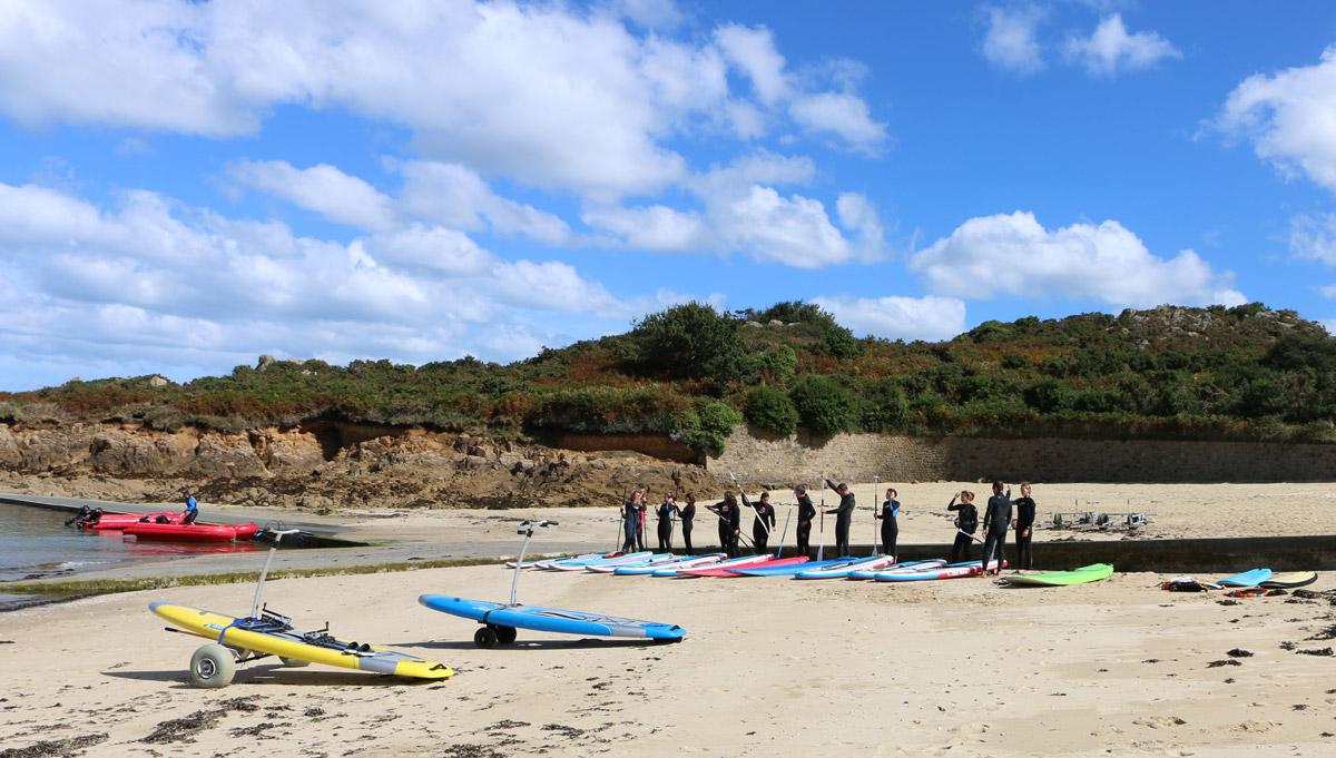 Cours de paddle à Carantec