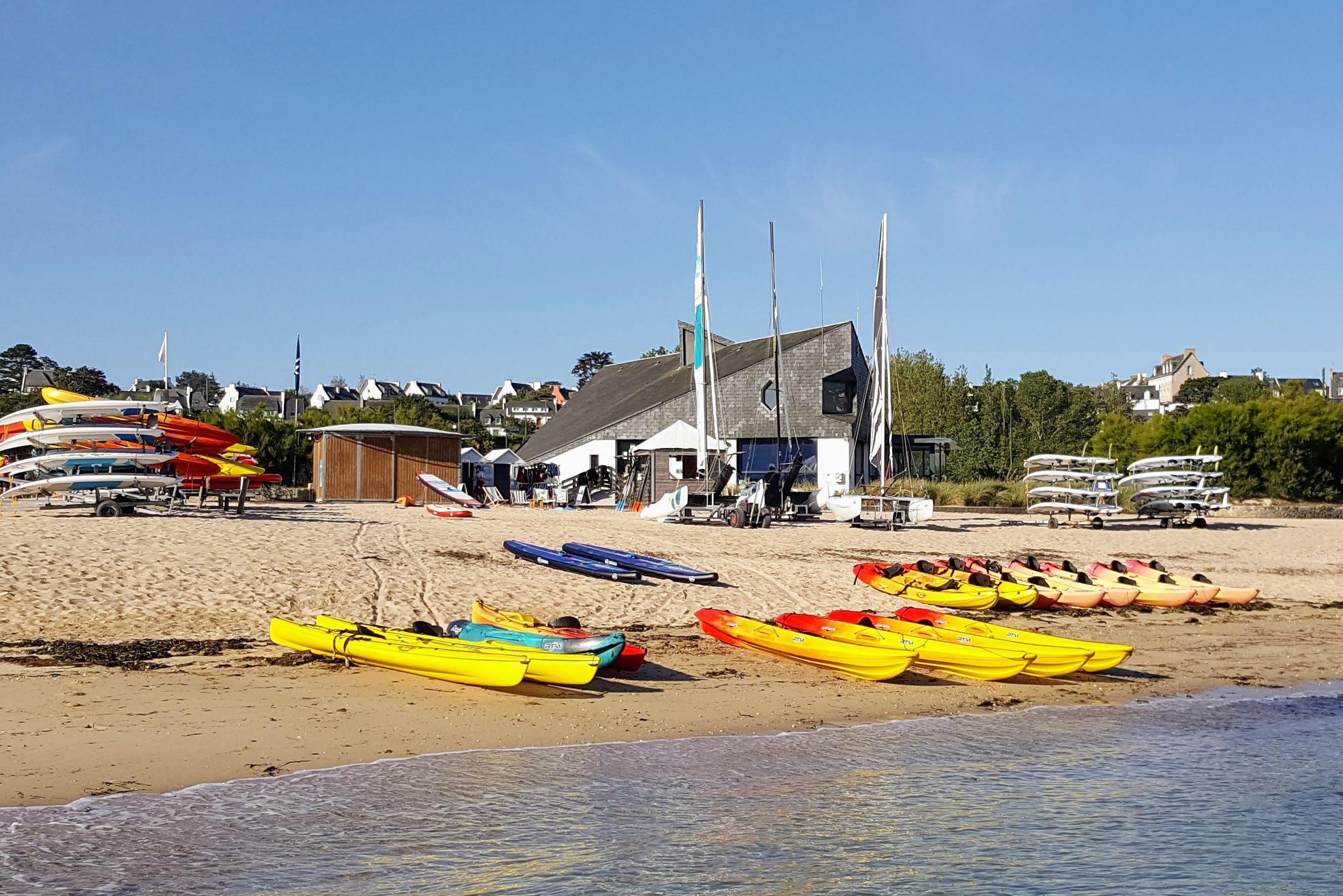 Point location Carantec, Plage du Kelenn, Kayak simple double ou famille, catamaran